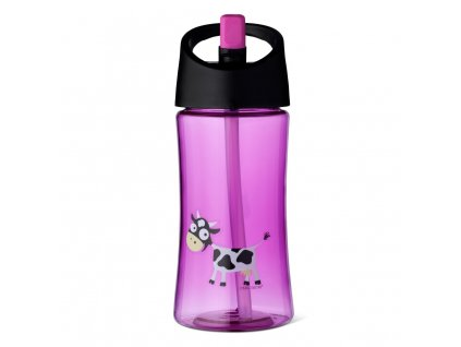 Carl Oscar dětská lahev 350 ml purpurová kravička