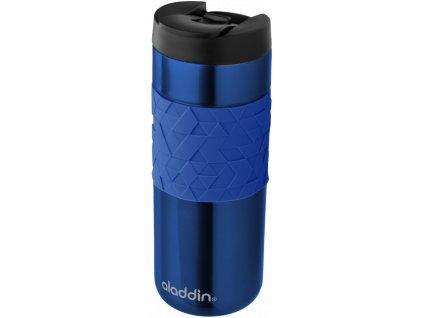 nerezový termohrnek značky ALADDIN Easy-Grip Leak-Lock v modré barvě 1