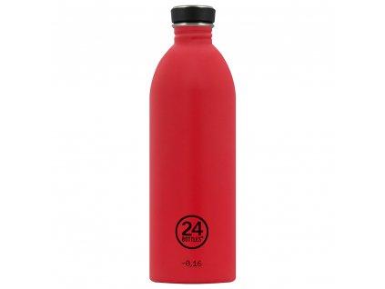 24Bottles nerezová lahev na vodu Urban Bottle 1000 ml Hot Red 1