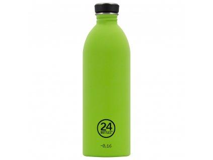 24Bottles stylová nerezová lahev na vodu Urban Bottle 1000 ml Lime Green 1