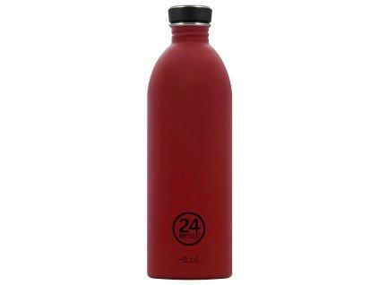 24Bottles nerezová lahev na vodu Urban Bottle 1000 ml Country Red 1