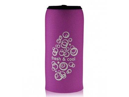 Termoobal na plastové lahve EQUA 600 ml růžový