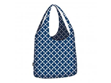 ECOZZ skládací nákupní taška Little Big Bag Blue Squares 1