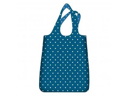 ECOZZ skládací nákupní taška Quick Shopper Dots Lagoon 1