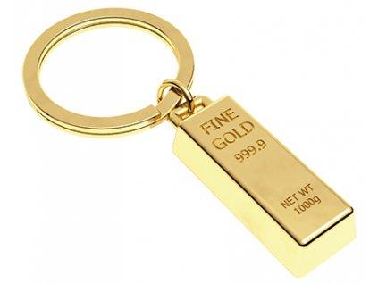 přívěsek na klíče se zlatou cihlou 1