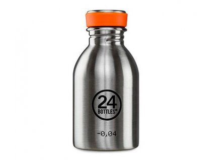 Nerezová lahev 24bottles Urban Bottle 250 ml Steel 1