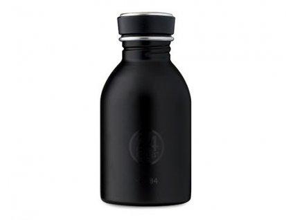 Malá a lehká stylová láhev na pití černá.