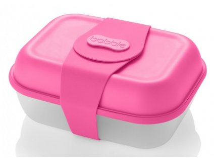 Bobble svačinový box neon pink