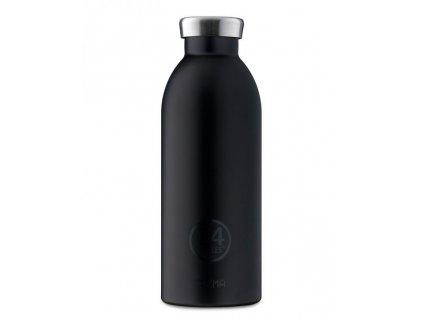 Designová černá termo láhev od italské značky 24Bottles. Na studené i teplé nápoje. 8051513921308