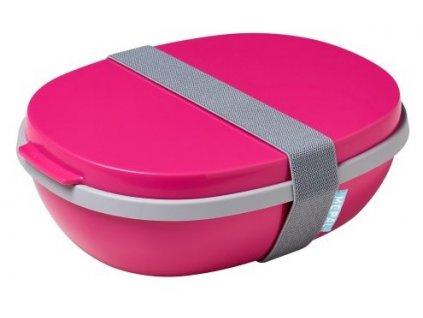 Mepal svačinový box ellipse duo pink
