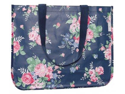 Green Gate látková nákupní taška Rose Dark Blue 1