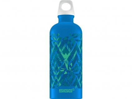Modrá lahev z kolekceSIGG Lucid Florid Electric Blue 600 ml