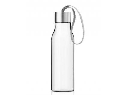 Eva Solo designová láhev na pití se světle šedým poutkem o objemu 500 ml