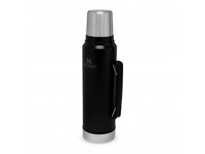 Odolná litrováoutdoorová termoska Stanley v matném černém provedení 1