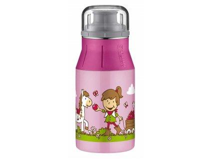 Kvalitní nerezová láhev pro děti do školy new Farm pink 1