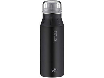 Kvalitní nerezová láhev na voduAlfi new Pure Black 600 ml 1