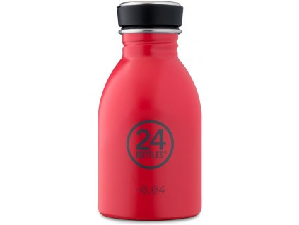 24Bottles lehká nerezová lahev na vodu Urban Bottle 250 ml Hot Red 1