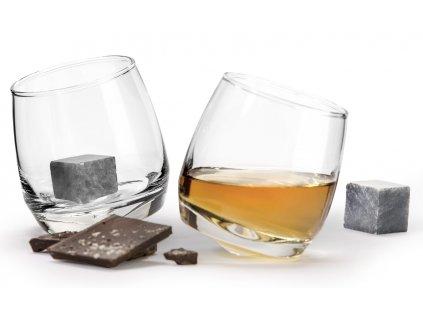 skleničky a chladící kameny na whisky 1
