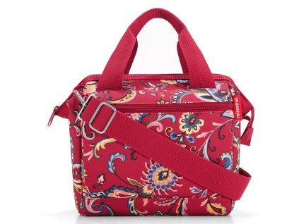 Reisenthel cestovní taška s popruhem přes rameno Allrounder Cross Paisley Ruby 1