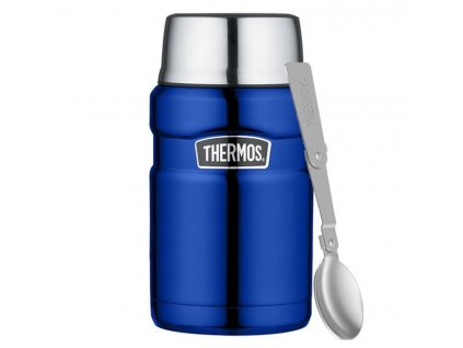 Thermos nerezová termoska na jídlo se lžící 710 ml modrá 1