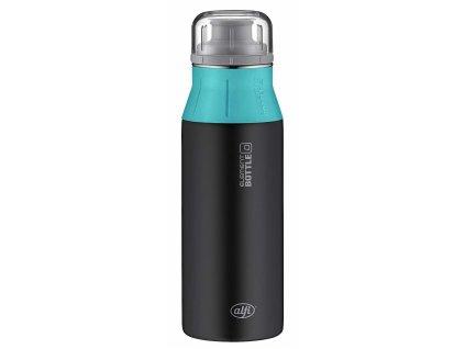 Kvalitní nerezová láhev na vodu s novým inovovaným pítkem Alfi new Black Ocean 600 ml 1