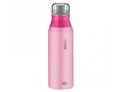 Alfi růžová nerezová lahev na pití pro holky