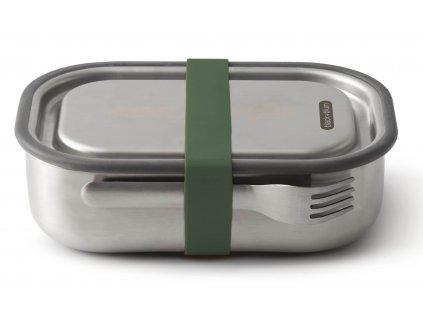 Nerezový box pro muže na svačinu nebo oběd BLACK+BLUM Steel Lunch Box 1