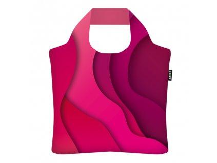 ECOZZ skládací nákupní ekologická taška Abstract Red