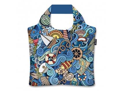 ECOZZ skládací nákupní taška Maritime