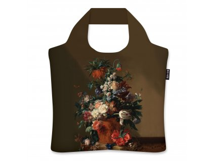 ECOZZ ekologická skládací nákupní taška s motivem obrazu Vase With Flowers