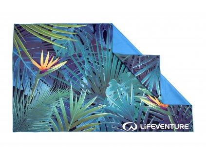 Lifeventure lehký outdoorový ručník Printed SoftFibre Trek Towel tropical 1