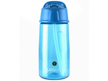 LittleLife plastová láhev pro děti do školy Flip-Top 550 ml blue 1