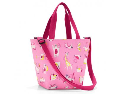 Reisenthel dětská taška přes rameno shopper xs kids abc friends pink 1
