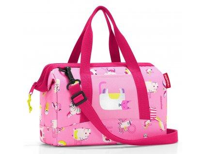 Reisenthel dětská cestovní taška Allrounder XS kids abc friends pink 1