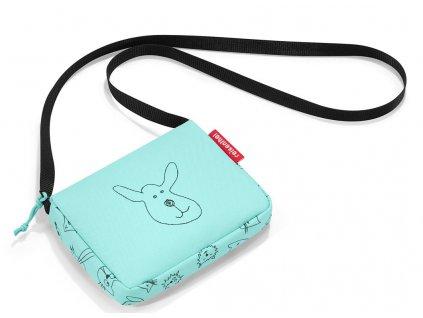 Reisenthel dětská taška přes rameno itbag kids cats and dogs mint 1