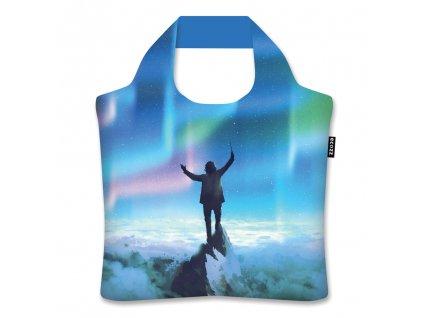 ECOZZ skládací nákupní taška Aurora Borealis by Tithi Luadthong