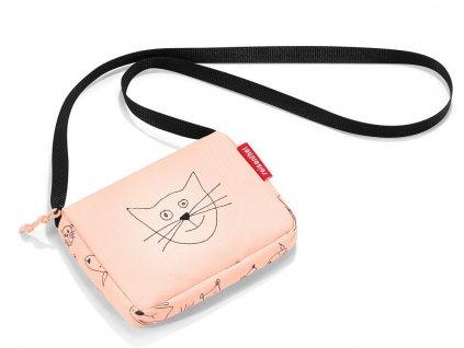 Reisenthel dětská taška přes rameno itbag kids cats and dogs rose 1