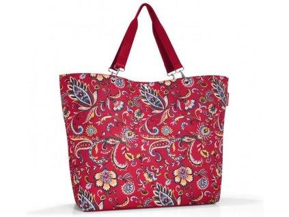 Reisenthel velká nákupní či plážová taška Shopper XL paisley ruby 1