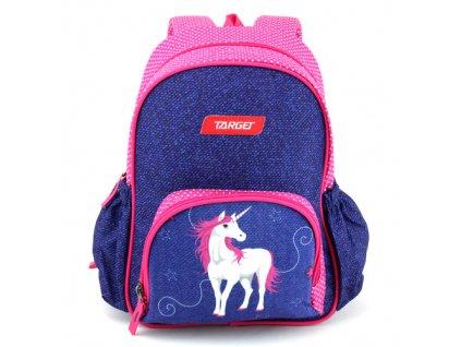 Target malý dívčí batůžek Jednorožec růžovo-modrý 1