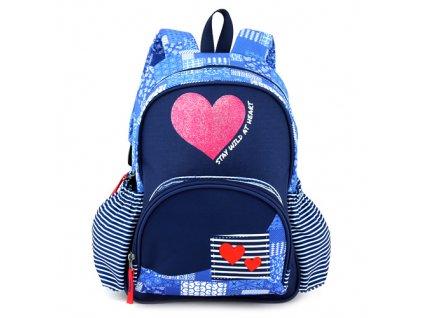 Target menší dívčí batůžek Srdíčka modrý 1