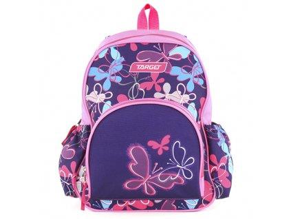 Target malý dívčí batůžek Motýlci modro-fialový 1