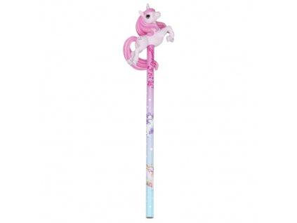 Ylvi and the Minimoomis tužka s gumou růžový jednorožec 1