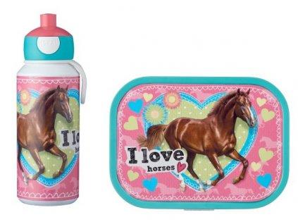 Mepal svačinový set pro děti s motivem koně Campus My horse 1