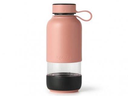 Lékué skleněná láhev na vodu To Go 600 ml lososová 1
