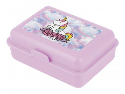 Box na svačinu pro holky do školy Baagl Duha jednorožec 1
