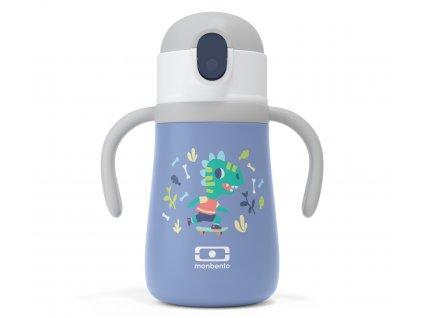 Monbento nerezová termoláhev pro děti Stram blue Dino 360 ml 1