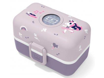 Monbento box na svačinu pro děti do školy MB Tresor purple Unicorn 1