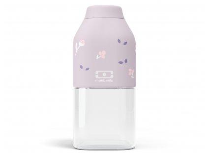 Monbento kvalitní plastová láhev na pití pro děti Positive S purple Unicorn 330 ml 1
