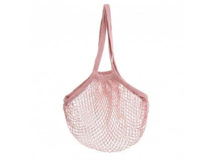 Sass & Belle praktická moderní nákupní taška síťovka Pink String 1
