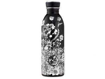 24Bottles designová nerezová láhev na pití Urban Bottle 500 ml Noir 1